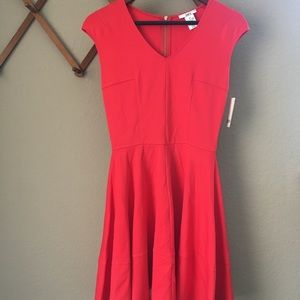 NEW Bar lll bright coral dress with capped sleeves